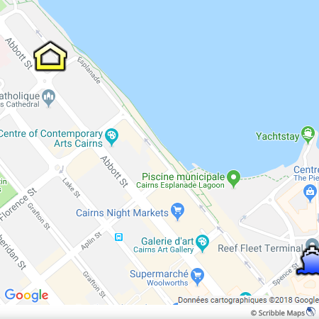 Cairns Plaza Hotel Map